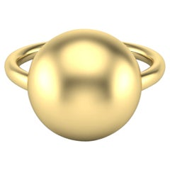 22 Karat Gold Orb Ring by Romae Jewelry Inspired by Ancient Roman Designs