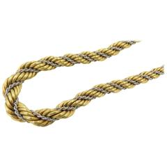 Chic Gold Rope Chain Necklace