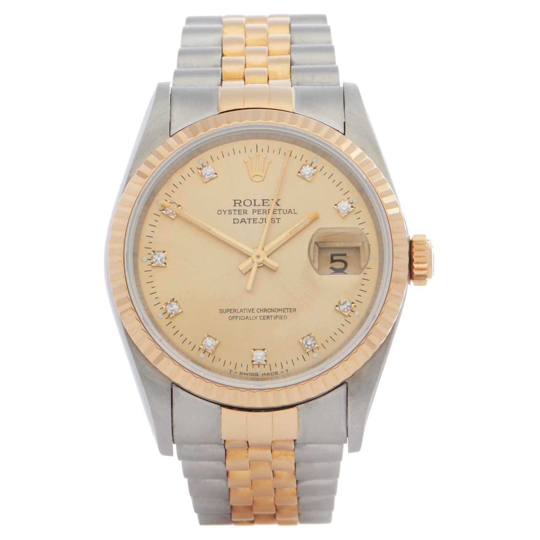 Rolex Datejust 36 16233G Unisex Yellow Gold & Stainless Steel 0 Watch