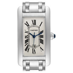 Cartier Tank Americaine Midsize White Gold Automatic Ladies Watch 1726
