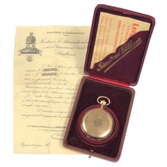 International Watch Co. Schaffhausen Yellow Gold Pocket Watch Box and Papers