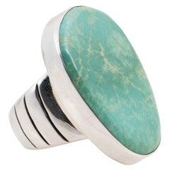 Navajo Blue Diamond Turquoise Ring