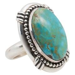 Navajo Carlin Turquoise Ring