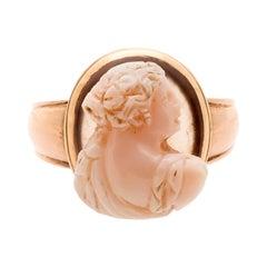 Renaissance Rose Gold Sardonyx Cameo Ring