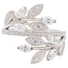 Tiffany & Co. Diamond Victoria Vine Bypass Ring in Platinum
