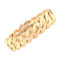 14 Karat Yellow Gold Circle Link Bracelet