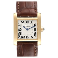 Cartier Tank Francaise Midsize Yellow Gold Ladies Watch W5000356