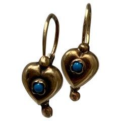 14ct 585 Gold Vintage European Earrings