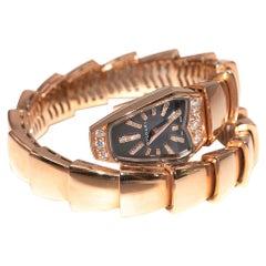 Bvlgari 18kt Rose Gold Diamond Serpenti Jewellery Watch part 1