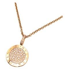Bvlgari 18kt Rose Gold Pave Diamonds Bvlgari-Bvlgari Necklace