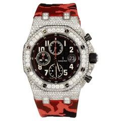 Audemars Piguet Royal Oak Offshore Diamond Case Red Strap 25721TI.00.1000TI.06.A