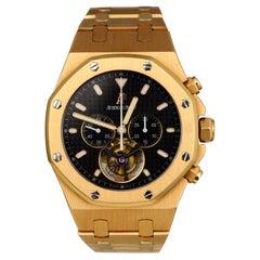 Audemars Piguet Ref. 25977OR.OO.D002CR.01 Black Dial Tourbillon 18k Rose Gold