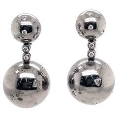 de Grisogono Gold and Diamond Boule Pendant Earclips Earrings