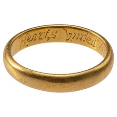 Antique English Gold Band 'Posy' Ring