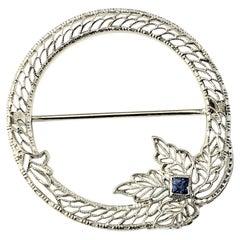 14 Karat White Gold Filigree Brooch/Pin