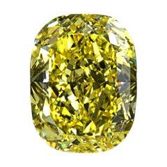 GIA Certified 8 Carat Cushion Cut Fancy Yellow Diamond