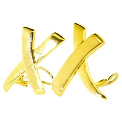 """Paloma Picasso for Tiffany & Co. Large """"Kiss"""" 18K Gold Earrings"""