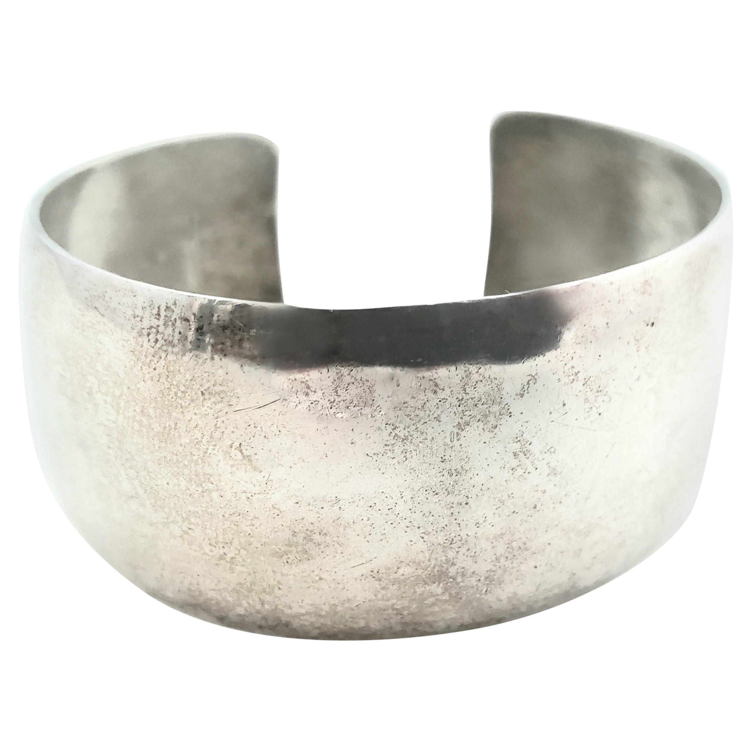 Inman Sterling Silver Modernist Cuff Bracelet