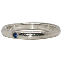 Tiffany & Co. Elsa Peretti Sapphire & Sterling Silver Stacking Band Ring