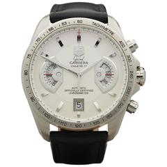 Tag Heuer Stainless Steel Grand Carrera Chronograph Wristwatch