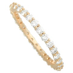 LB Exclusive 14K Yellow Gold 1.00 Ct Diamond Eternity Band Ring