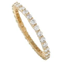 LB Exclusive 14K Yellow Gold 1.00 Ct Diamond Infinity Ring