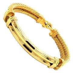 David Yurman Double Cable Bracelet in 18K Yellow Gold