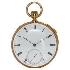 Antique Patek Philippe 18 Gold Repeater Pocket Watch, Roman Enamel Dial