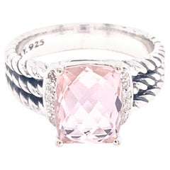 David Yurman Morganite & Diamond Wheaton Ring, .08ctw Diamonds