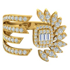 1.30 Carat 14 Karat Gold Sunrise Diamond Ring