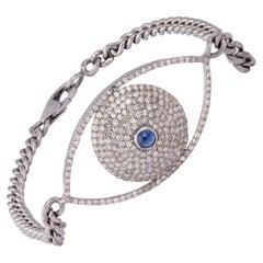 Single Cut Diamond Gold Bracelet