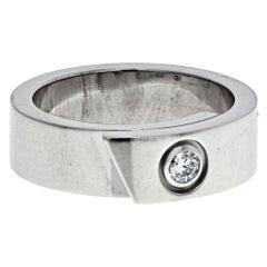 Cartier 18K White Gold Diamond Anniversary Band Ring