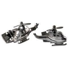 Deakin & Francis Base Metal Grey Helicopter Cufflinks