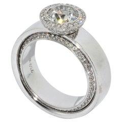 18 Karat White Gold Eternity Solitaire Diamond Ring