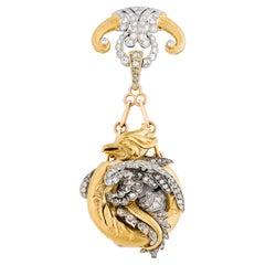 C. Marcks & Co. Dragon Lapel Watch