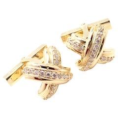 Tiffany & Co. Diamond Signature X Yellow Gold Cufflinks