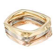 Tiffany & Co. Frank Gehry Tri -Color Gold Torque Ring set