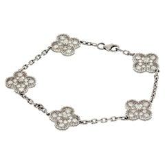 Van Cleef & Arpels Alhambra Five Motif Diamond Alhambra Bracelet