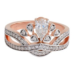 18 Karat Gold Tiara Diamond Ring