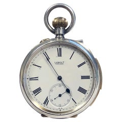 Antique Silver Cased Minute Repeater Pocket Watch Retailed by Lebolt & Company