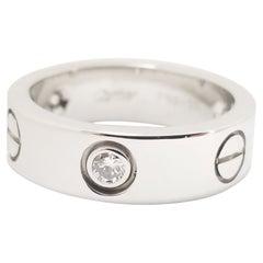 Cartier Love Ring 3 Diamonds 18 Karat White Gold