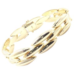 Cartier Three-Row Gentiane Rice Link Yellow Gold Bracelet