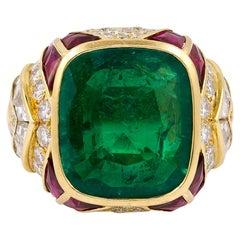Bulgari Ruby Emerald Ring