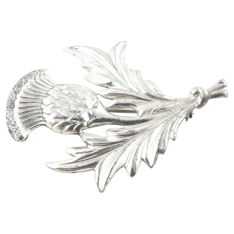 Danecraft Sterling Silver Scottish Thistle Flower Pin/Brooch