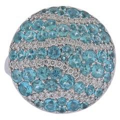Bucherer Gold Diamond Paraiba Tourmaline Ring