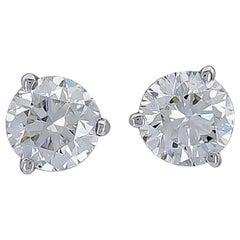 14K White Gold Diamond Studs