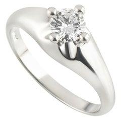 Bvlgari Round Brilliant Cut Diamond Ring in Platinum 0.35ct G/VVS2