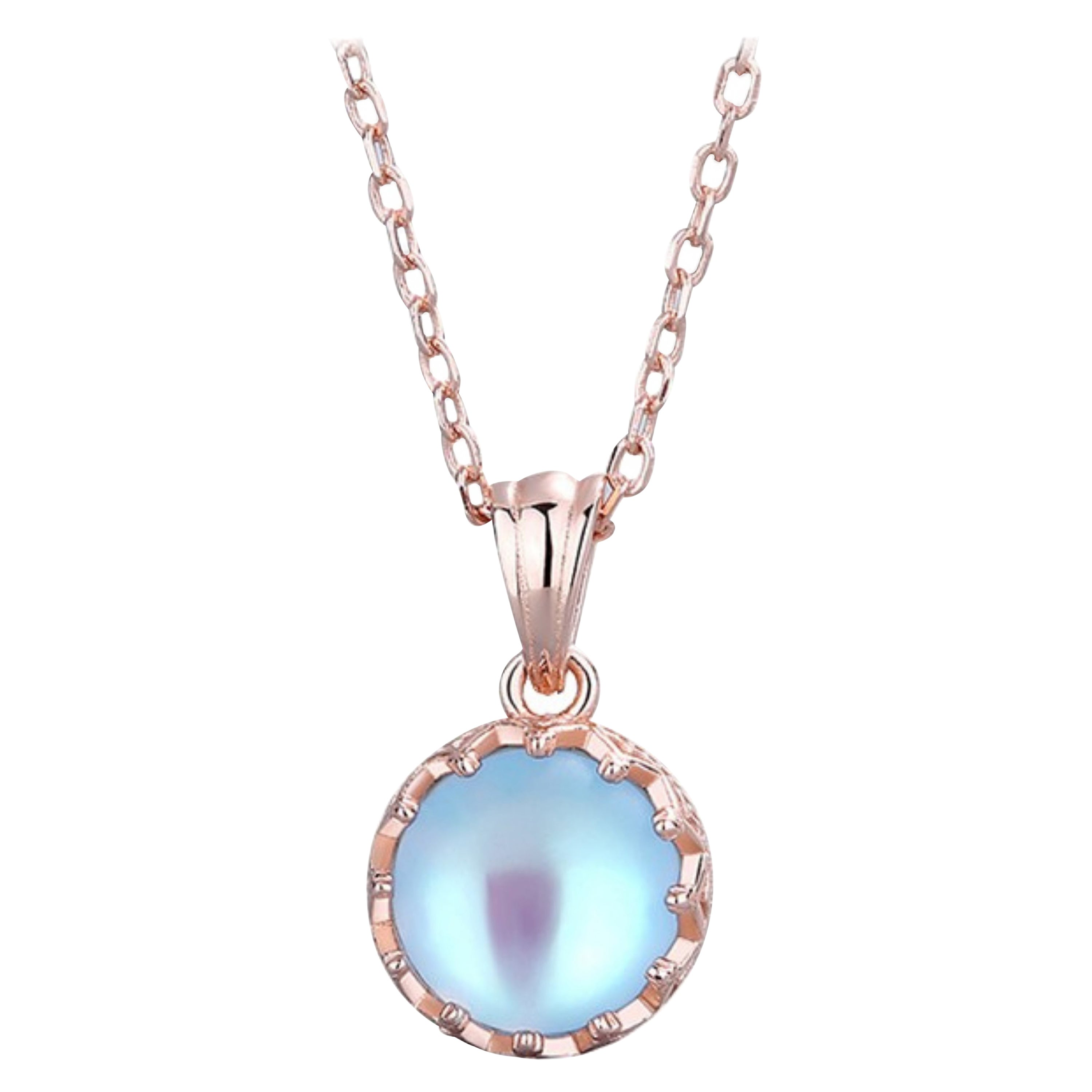 Moonstone Necklaces Rose Gold Plated and Sterling Silver