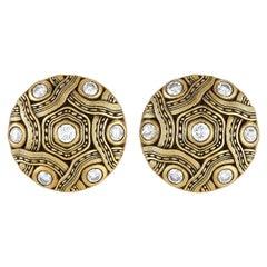 Alex Sepkus 18K Yellow Gold 1.50ct Diamond Earrings