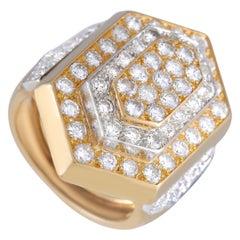 David Webb 18K Yellow Gold 3.00 Ct Diamond Ring